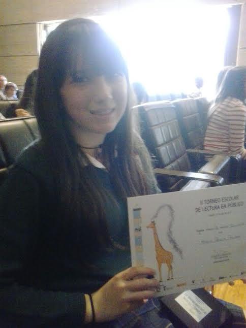 Tercer premio de Torneo de lectura en público