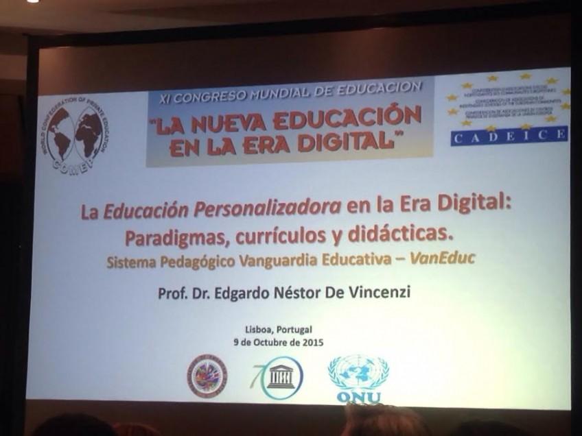 """Congreso Mundial de Educación: """"La nueva educación en la era digital"""" (9-10.10.2015)"""
