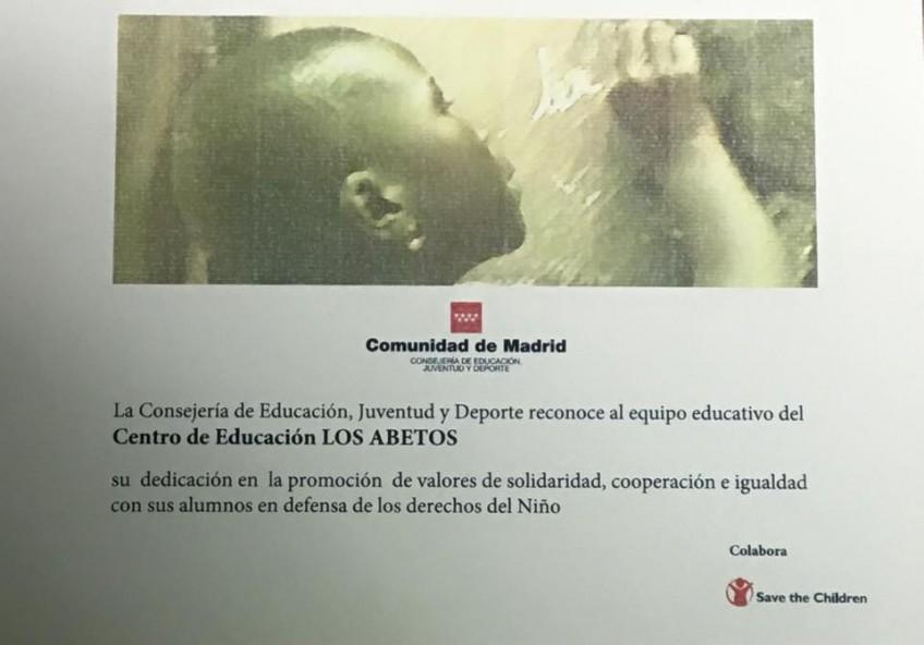 Acto de homenaje a los centros educativos Embajadores en la Defensa y Promoción de los derechos de la infancia (21.01.2016)